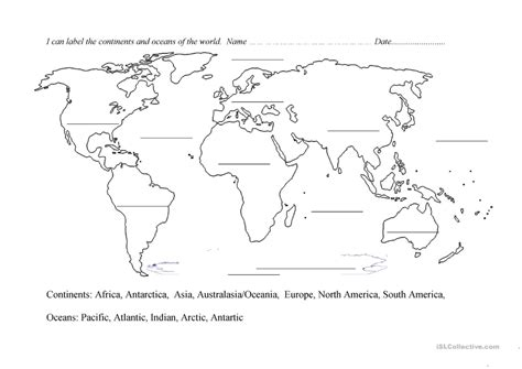 HD wallpapers free continents worksheets for kids Page 2