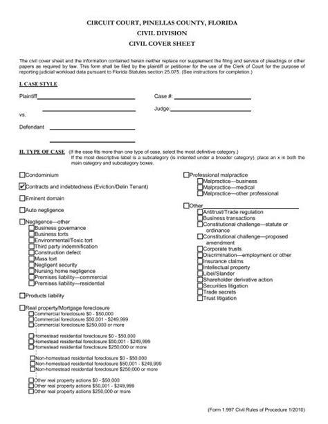 Florida-Circuit-CourtCivil-Cover-Sheet