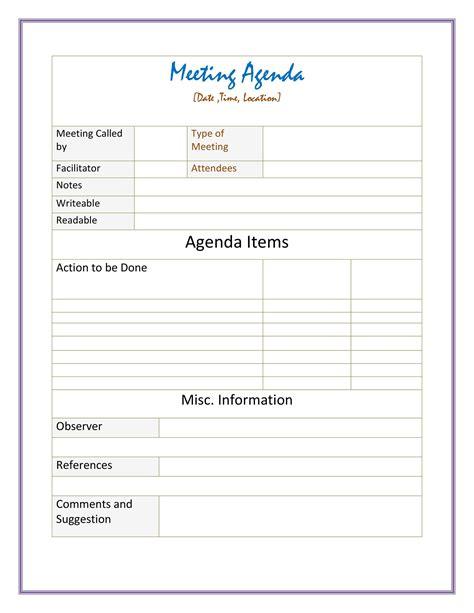Formal-Meeting-Agenda-TemplateFree