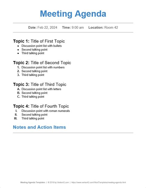 Formal-Meeting-Agenda-TemplateWord