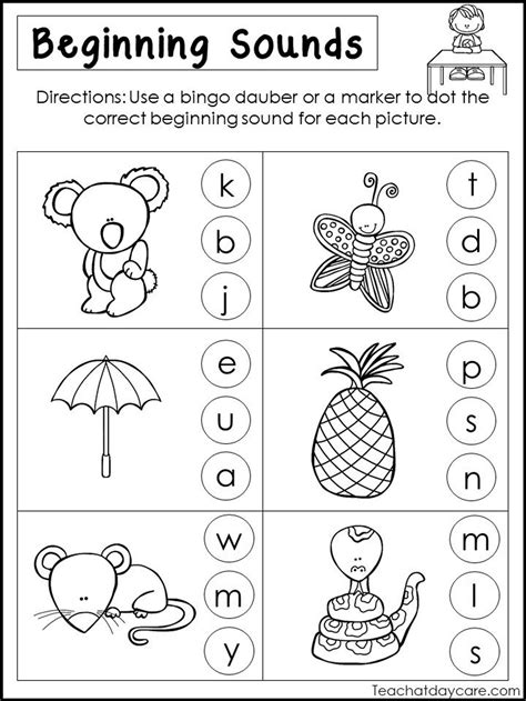 HD wallpapers free printable beginning sounds worksheets for kindergarten Page 2
