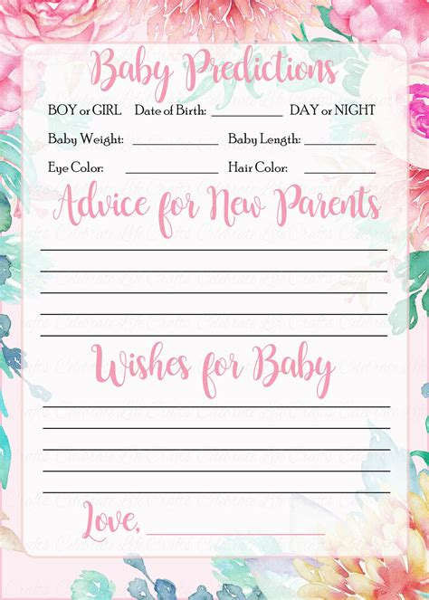 Free-Printable-Baby-Shower-Advice-Cards