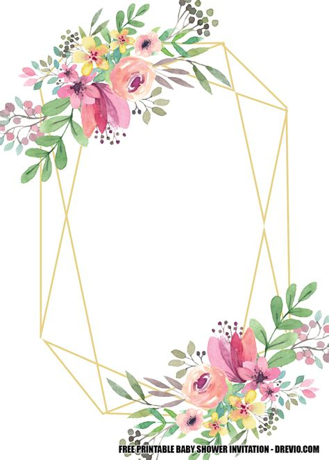 Free-Printable-FloralBaby-Shower-Invitations