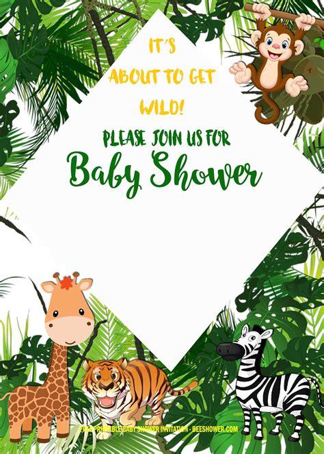 Free-Printable-JungleBaby-Shower-Invitations