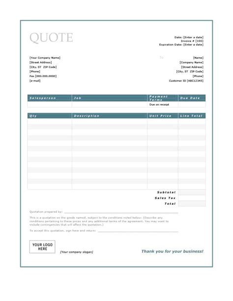 Free-QuoteForms-Template