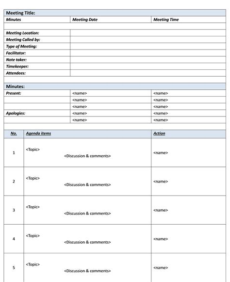 Free-Template-forMeeting-Minutes-Format