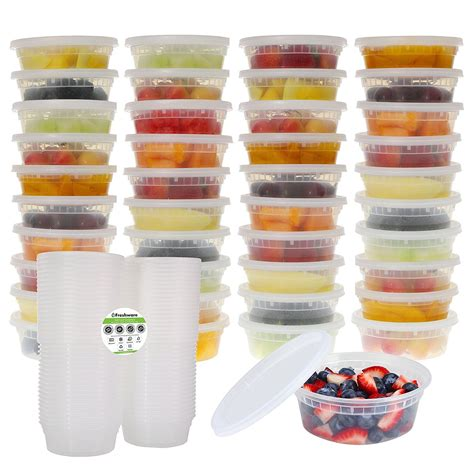 Freshware 40 Pack 8 oz Plastic Food Storage Containers with Airtight Lids | Watches Store Online Reviews