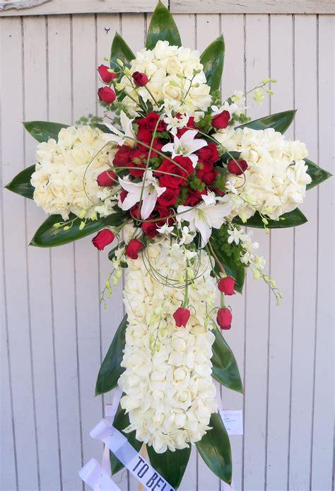 Funeral-FlowersCross-Arrangement