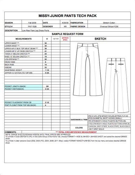 Garment-SpecSheet-Template