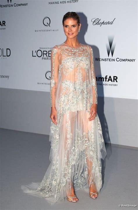 Heidi Klum Robe Transparente