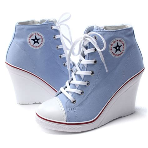 High Top Canvas Wedge Shoes High | Gps Store