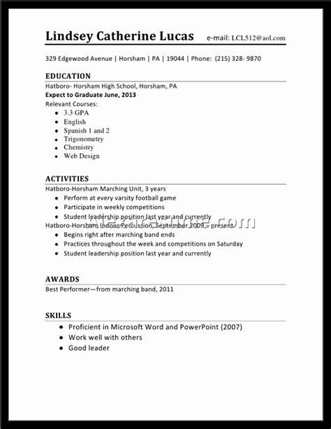 High-SchoolSenior-Resume-Template