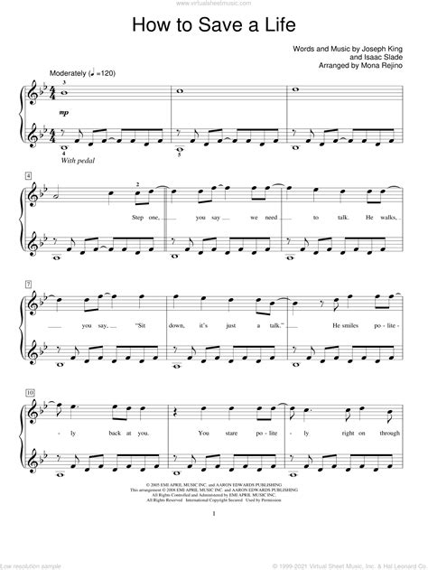 How-to-Save-a-LifePiano-Sheet-Music