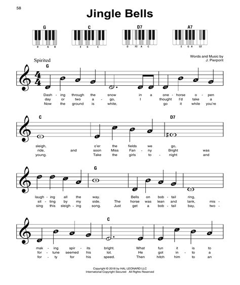 Jingle-Bells-Sheet-Musicwith-Lyrics