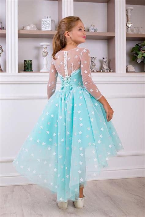 Light-BlueFlower-Girl-Dress