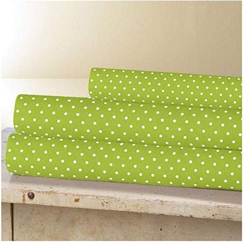 Lime-GreenPolka-Dot-Sheets