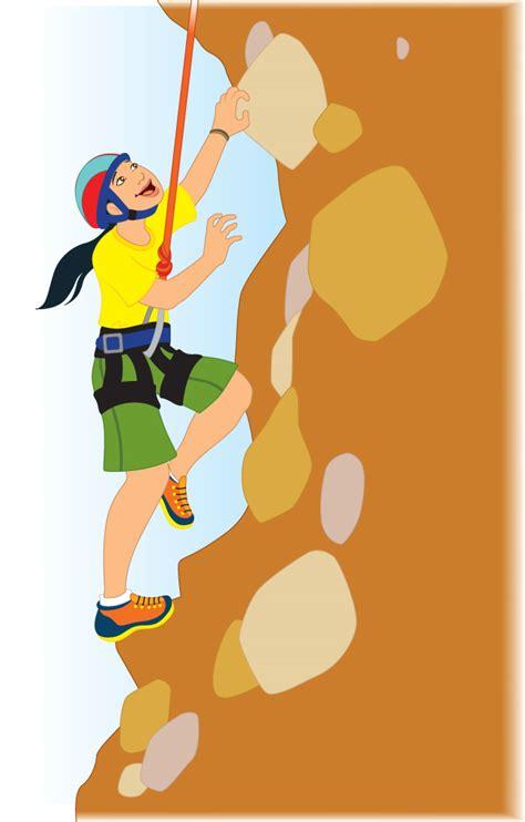 Man Climbing Mountain Clip Art