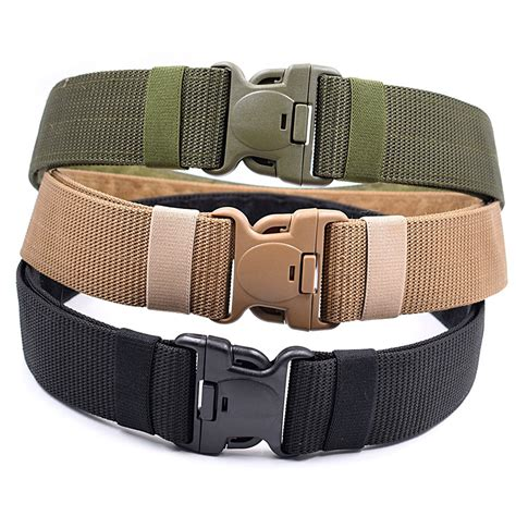 Men\'s Outdoor Sports Military Tactical Nylon Waistband Canvas Web Belt Dazzling | Watches Store Online Reviews