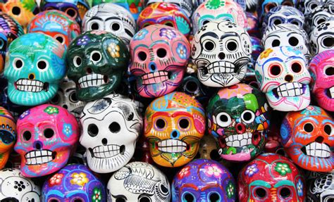 Mexican Day The Dead Skulls