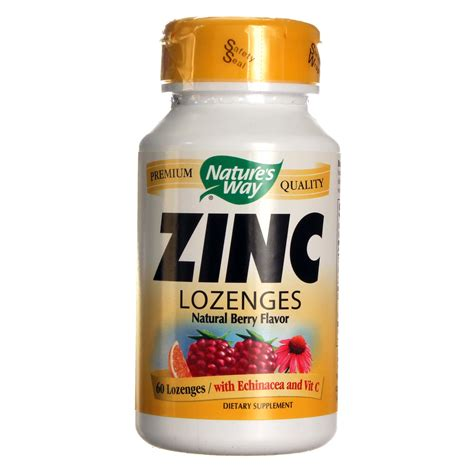 Nature\'s Way Zinc Lozenges Natural Berry 60 Capsules | Gps Store