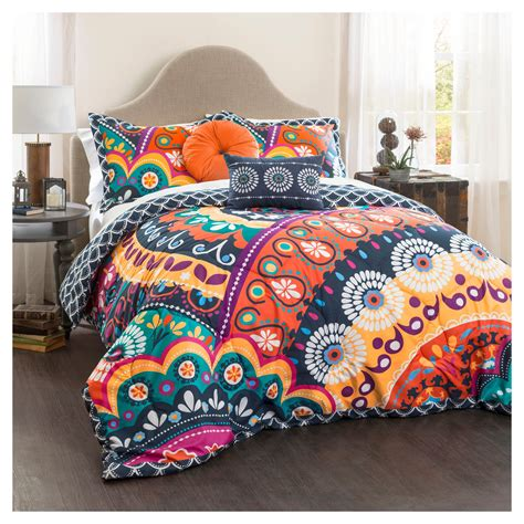 Navy-Blue-andCoral-Comforter-Set