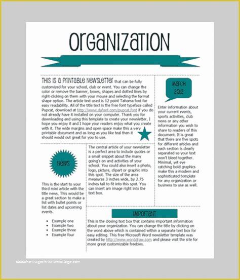 Newsletter-Templatesin-Word-Format
