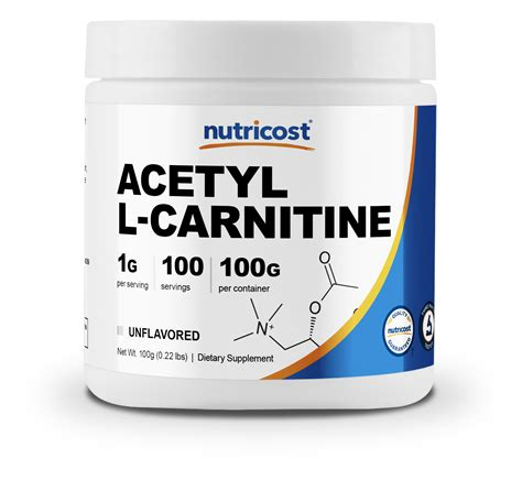 Nutricost Acetyl L Carnitine (ALCAR) 100 GMS 1000mg Per Serving High Qual... | Watches Store Online Reviews