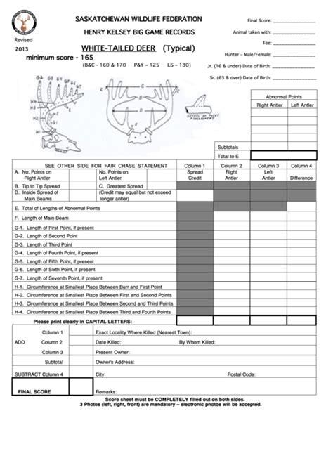 Official-DeerScoring-Sheet