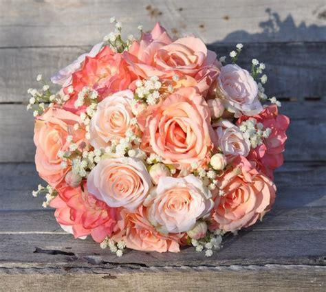 Peach-RoseWedding-Bouquets