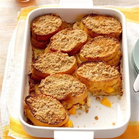 Peach Stuffed French Toast