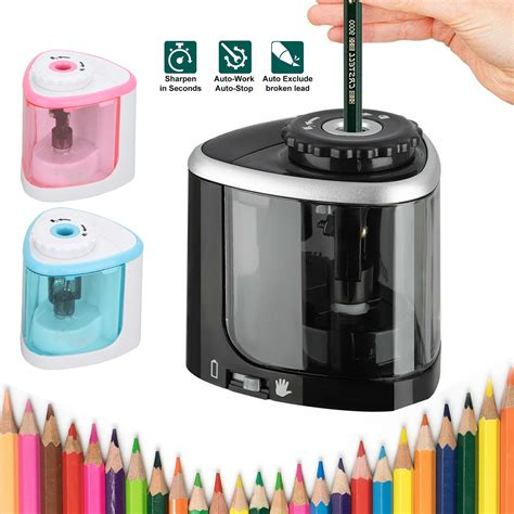 Pencil Sharpener Automatic Electric Touch Battery Personal Office Home School | Gps Store