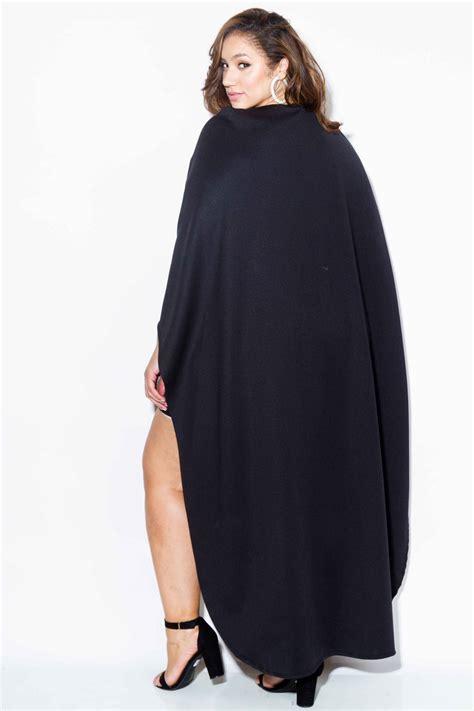 Plus-SizeCape-Dress