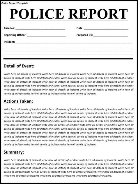 Police-ReportNarrative-Template