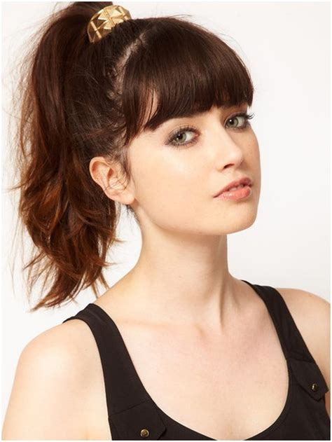 Ponytail-with-BangsShort-Hairstyles
