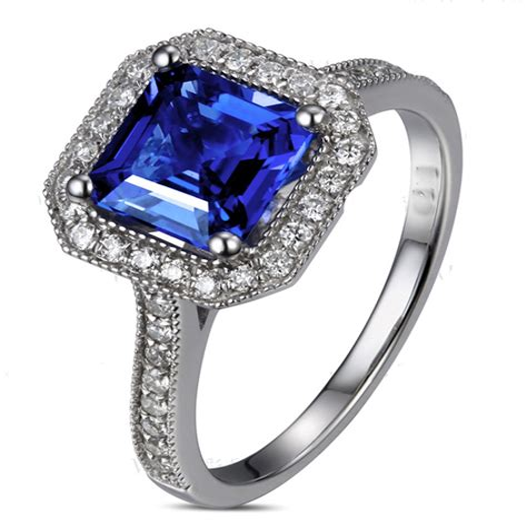 Princess-CutSapphire-Engagement-Rings