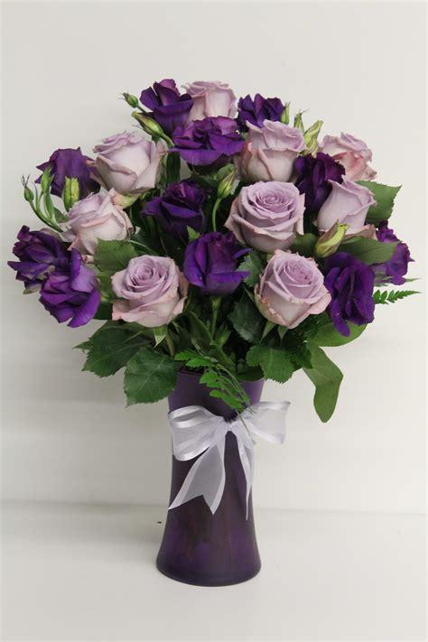 Purple-Rose-FlowerArrangements