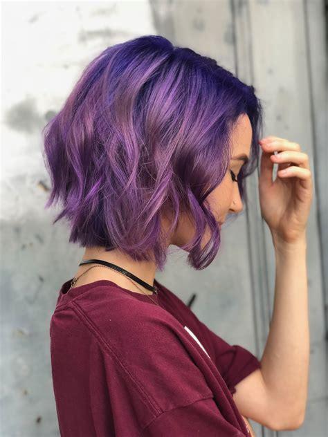 Purple-Short-HairPixie-Cut