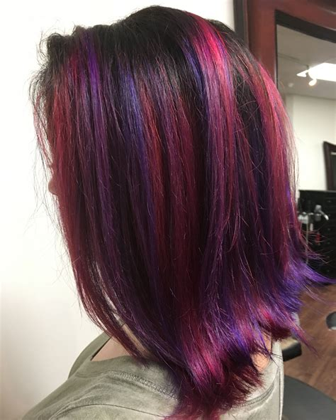 Purple-andBright-Red-Hair
