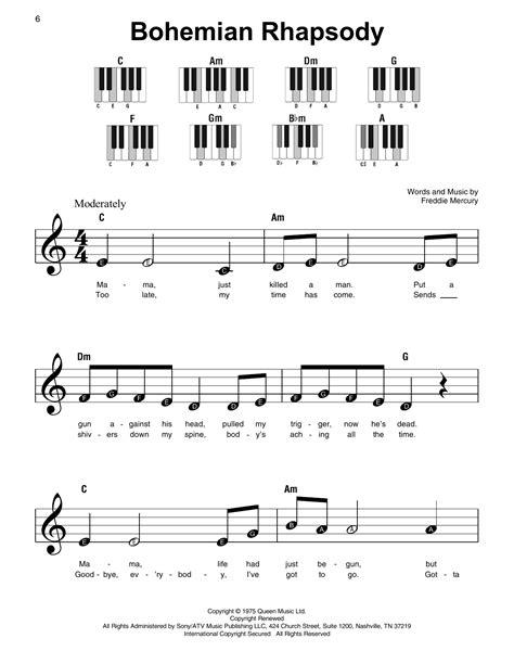Queen-EasySheet-Music