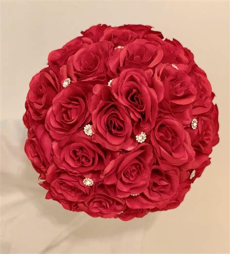 Red-Silk-Rose-BridalBouquet
