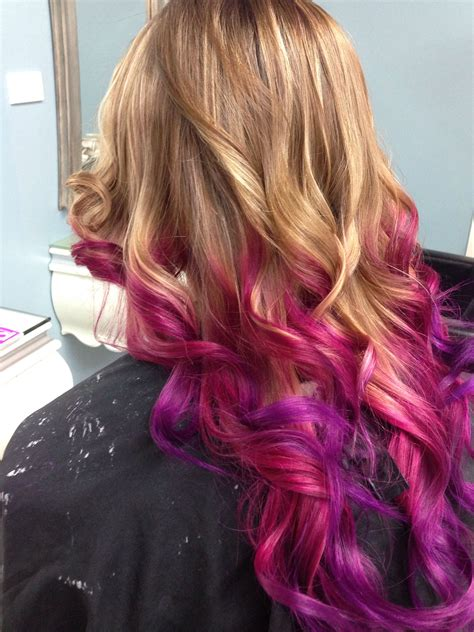 Red-and-PurpleOmbre-Hair