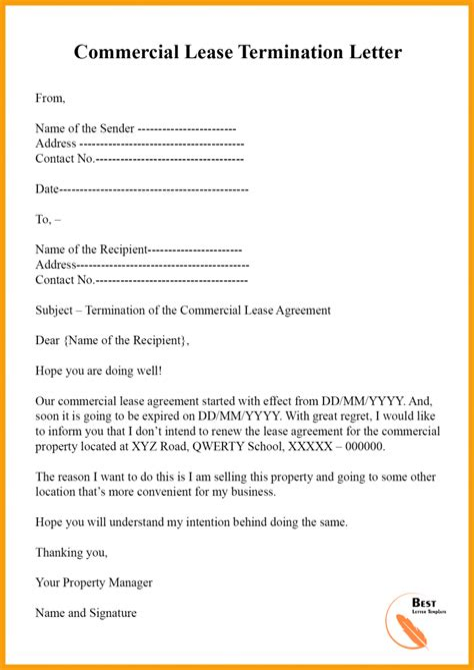 Rental-AgreementTermination-Letter-Sample
