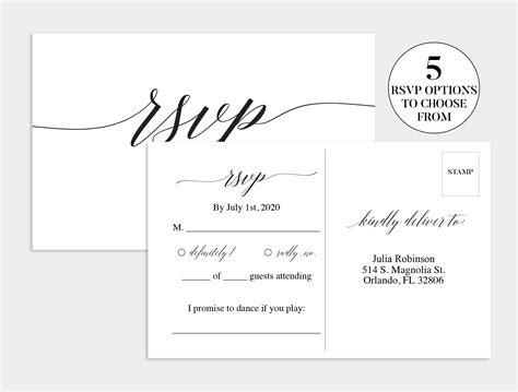 Rsvp-Postcard-Template