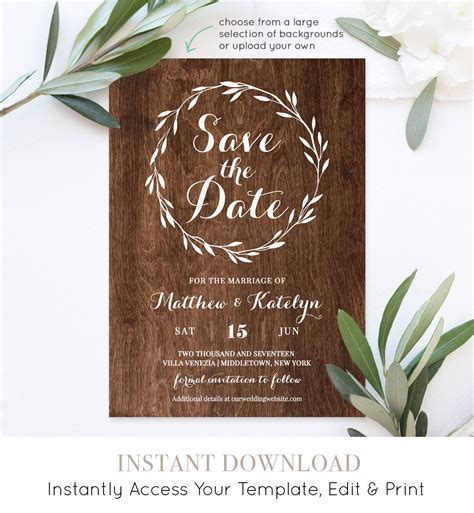 Rustic-Save-the-DateTemplates-Free