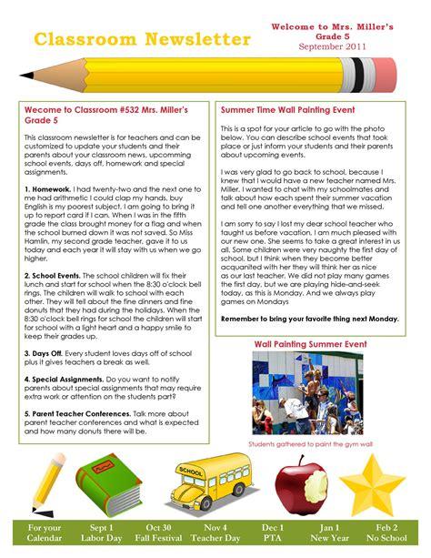 School-Newsletter-TemplatesFree