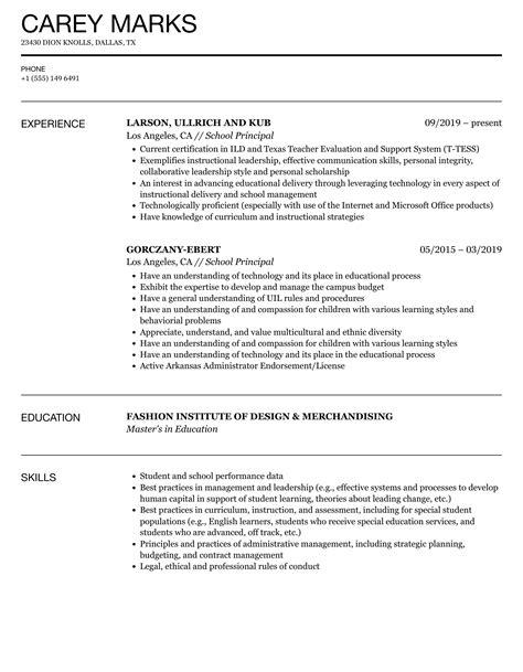 School-PrincipalResume-Template