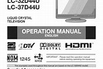 Sharp TV Instructions