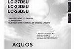 Sharp TV Manuals