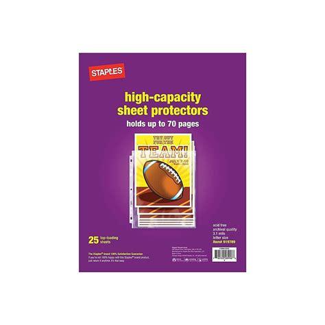 Sheet-ProtectorsStaples