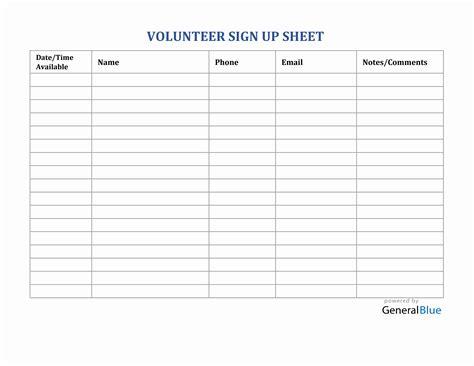 Sign-Up-SheetVolunteer-Form